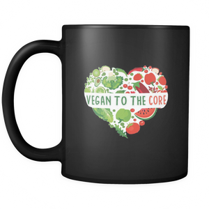 Vegan To The Bone Black 11oz Mug - The Jack of All Trends