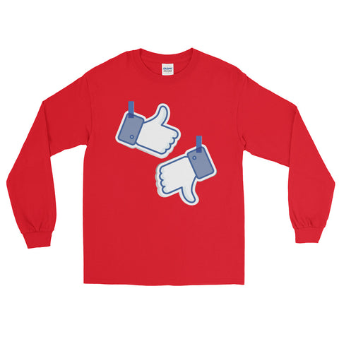 Like/Dislike Men's Long Sleeve T-Shirt - The Jack of All Trends