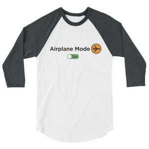 Men's Airplane Mode On Raglan Shirt - The Jack of All Trends