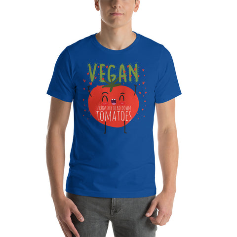 Vegan From My Head Tomatoes Short Sleeve Men's T-Shirt - The Jack of All Trends