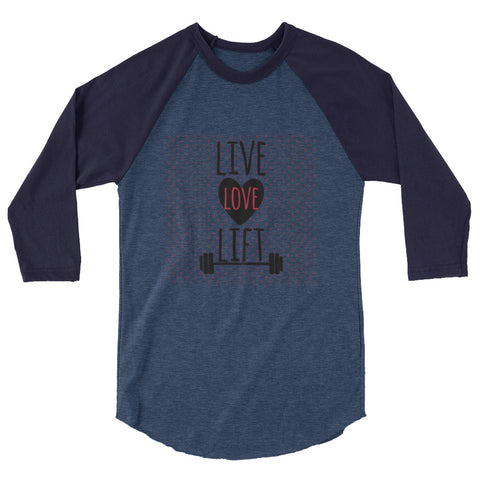 Live, Love, Lift Raglan Shirt Women's - The Jack of All Trends