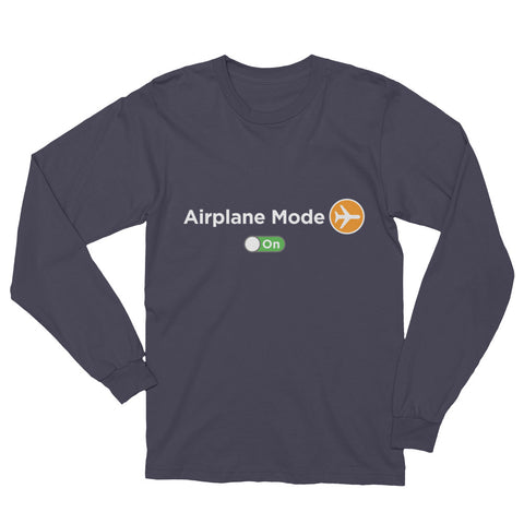 Women's Airplane Mode On Long Sleeve T-Shirt - The Jack of All Trends