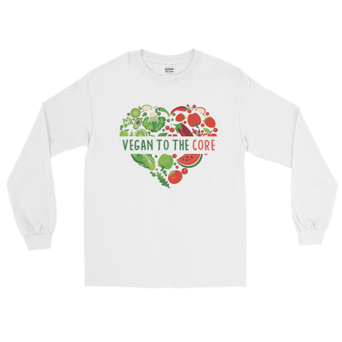 Men's Vegan To The Core Long Sleeve T-Shirt - The Jack of All Trends