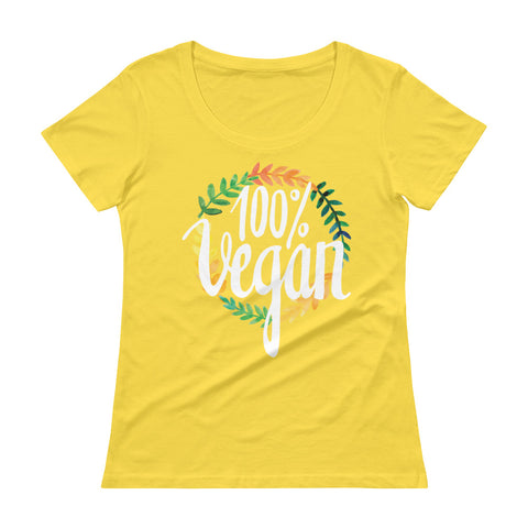 Women's 100% Vegan Scoopneck T-Shirt - The Jack of All Trends