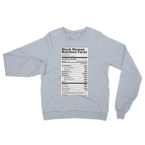 Black Women Nutritional Facts Sweatshirt - The Jack of All Trends