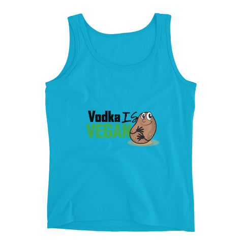 Women's Vodka Is Vegan Tank Top - The Jack of All Trends