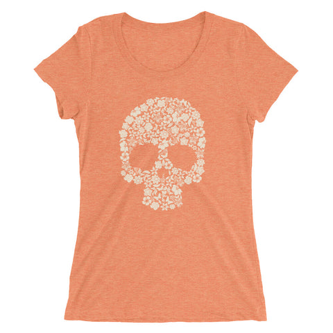 Floral Skull Ladies' Short Sleeve T-Shirt - The Jack of All Trends