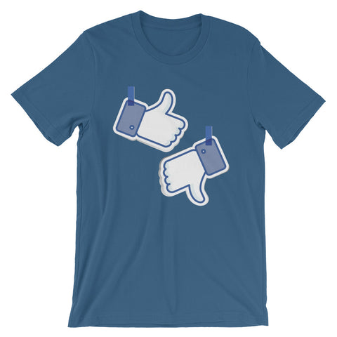 Like/Dislike Short-Sleeve Men's T-Shirt - The Jack of All Trends