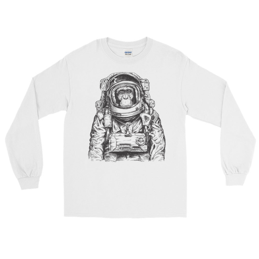 Astronaut Monkey Long Sleeve T-Shirt - The Jack of All Trends