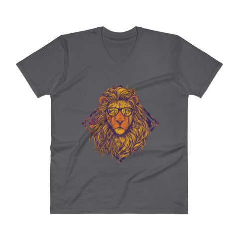 Swag King Lion Men's V-Neck T-Shirt - The Jack of All Trends