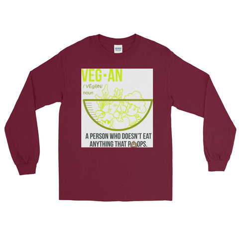 Vegan Noun Men's Long Sleeve T-Shirt - The Jack of All Trends