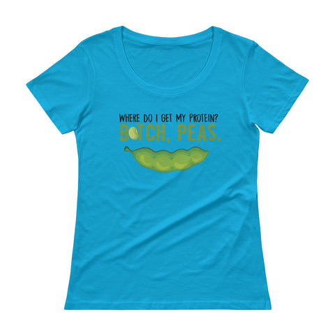 Peas Protein Ladies' Scoopneck T-Shirt - The Jack of All Trends