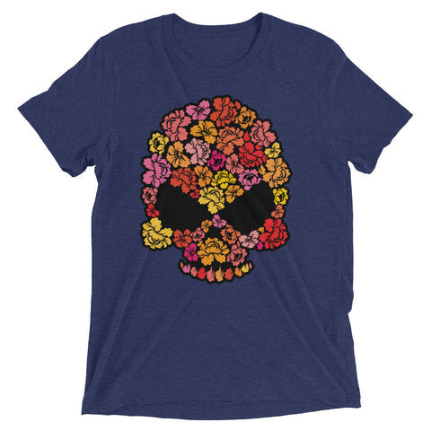 Floral Skull Short sleeve t-shirt - The Jack of All Trends