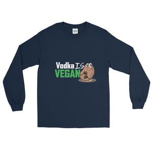 Men's Vodka is Vegan Long Sleeve T-Shirt - The Jack of All Trends