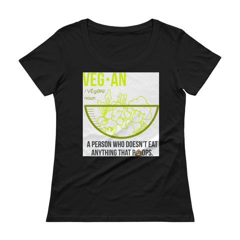 Vegan Noun Ladies' Scoopneck T-Shirt - The Jack of All Trends