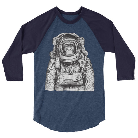 Astronaut Monkey raglan shirt - The Jack of All Trends