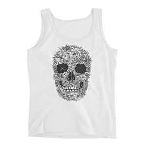 Floral Skull Ladies' Tank - The Jack of All Trends