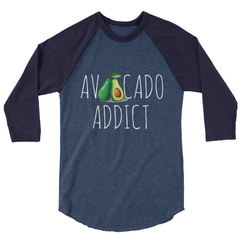 Avocado Addict Women's 3/4 sleeve raglan shirt - The Jack of All Trends