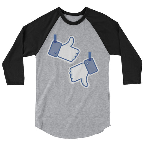 Like/Dislike Men's 3/4 sleeve raglan shirt - The Jack of All Trends
