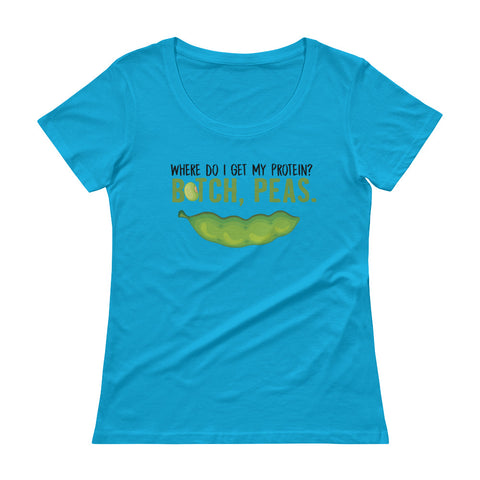 Peas Protein Women's Scoopneck T-Shirt - The Jack of All Trends