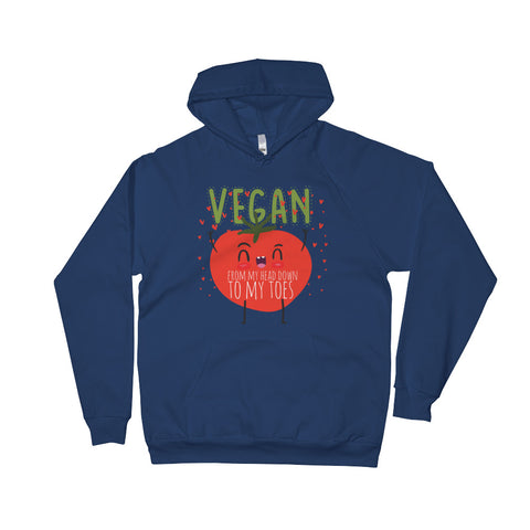 Vegan From My Head Tomatoes Men's Hoodie - The Jack of All Trends