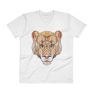 Queen Lion Men's V-Neck T-Shirt - The Jack of All Trends
