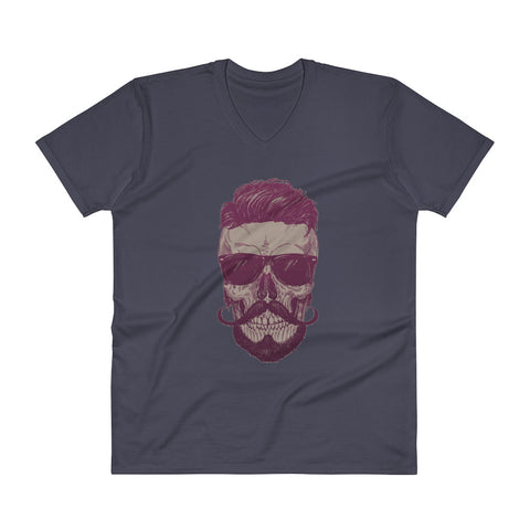 Cool Guy Skull Men's V-Neck T-Shirt - The Jack of All Trends