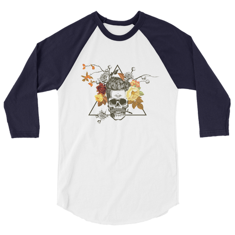 Skull Roses Head raglan shirt - The Jack of All Trends
