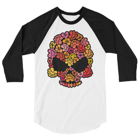 Flower Punisher raglan shirt - The Jack of All Trends