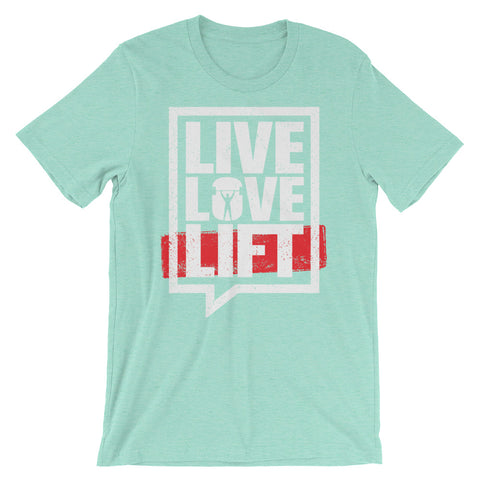 Body Builders Live Love Lift Men's Short-Sleeve T-Shirt - The Jack of All Trends