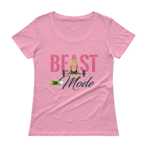 Women's Beast Mode Scoopneck T-Shirt - The Jack of All Trends
