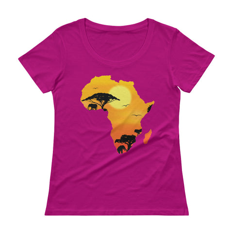Women's African Continent Scoopneck T-Shirt - The Jack of All Trends