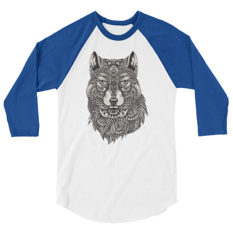 Mystical Wolf Raglan shirt - The Jack of All Trends
