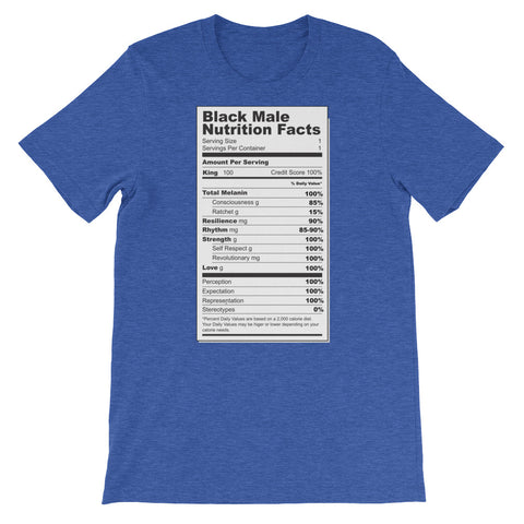 Black Male Nutritional Facts Men's T-Shirt - The Jack of All Trends