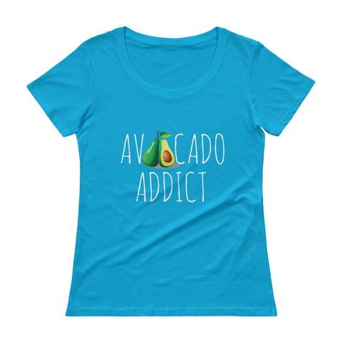 Avocado Addict Ladies' Scoopneck T-Shirt - The Jack of All Trends