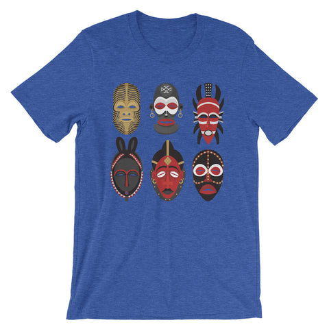 African Tribal Mask Men's Short-Sleeve T-Shirt - The Jack of All Trends