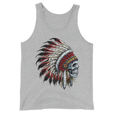 Chief Skull Men's  Tank Top - The Jack of All Trends