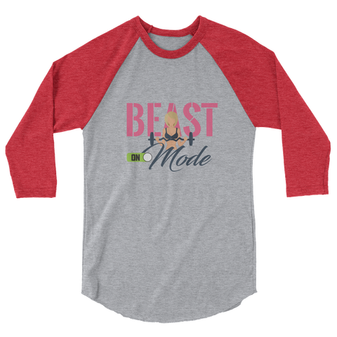 Beast Mode On Women's Raglan Shirt - The Jack of All Trends