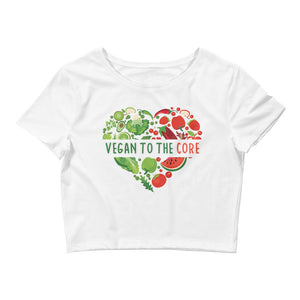 Women's Vegan To The Core Crop Top Tee - The Jack of All Trends