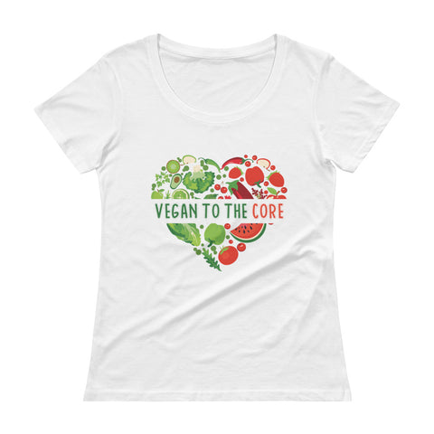 Women's Vegan To The Core Scoopneck T-Shirt - The Jack of All Trends