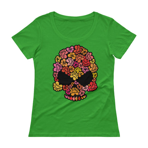 Flower Punisher Scoopneck T-Shirt Ladies - The Jack of All Trends