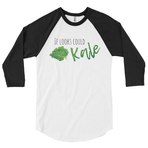 If Looks Could Kale Men's Sleeve Raglan Shirt I - The Jack of All Trends