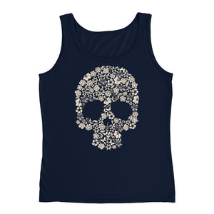 Floral Skull Ladies Tank - The Jack of All Trends