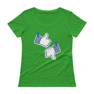 Like/Dislike Ladies' Scoopneck T-Shirt - The Jack of All Trends