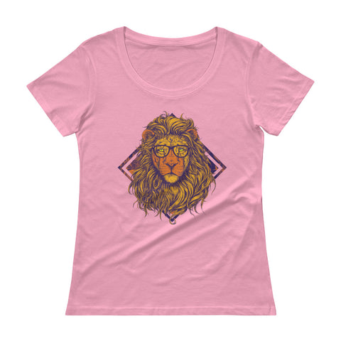 Swag Queen Lioness Ladies' Scoopneck T-Shirt - The Jack of All Trends