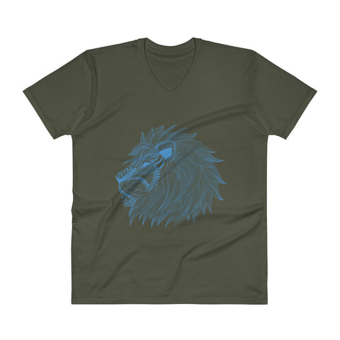 King Of The Jungle Men's V-Neck T-Shirt - The Jack of All Trends