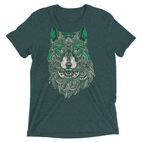 Mystical Wolf Short sleeve t-shirt - The Jack of All Trends