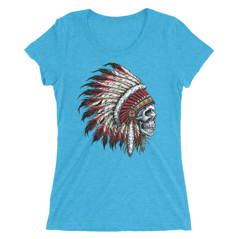 Chief Skull Ladies' short sleeve t-shirt - The Jack of All Trends