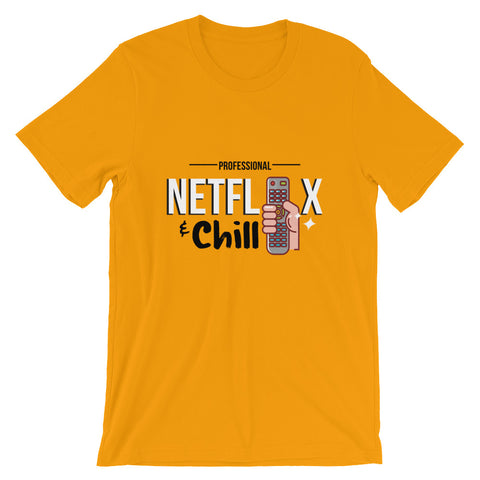 Netflix & Chill Short-Sleeve Men's T-Shirt - The Jack of All Trends