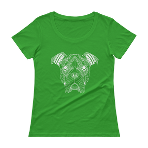 American Bulldog Ladies' Scoopneck T-Shirt - The Jack of All Trends